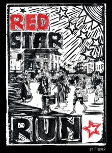 voorkant shirt RED STAR RUN 2014