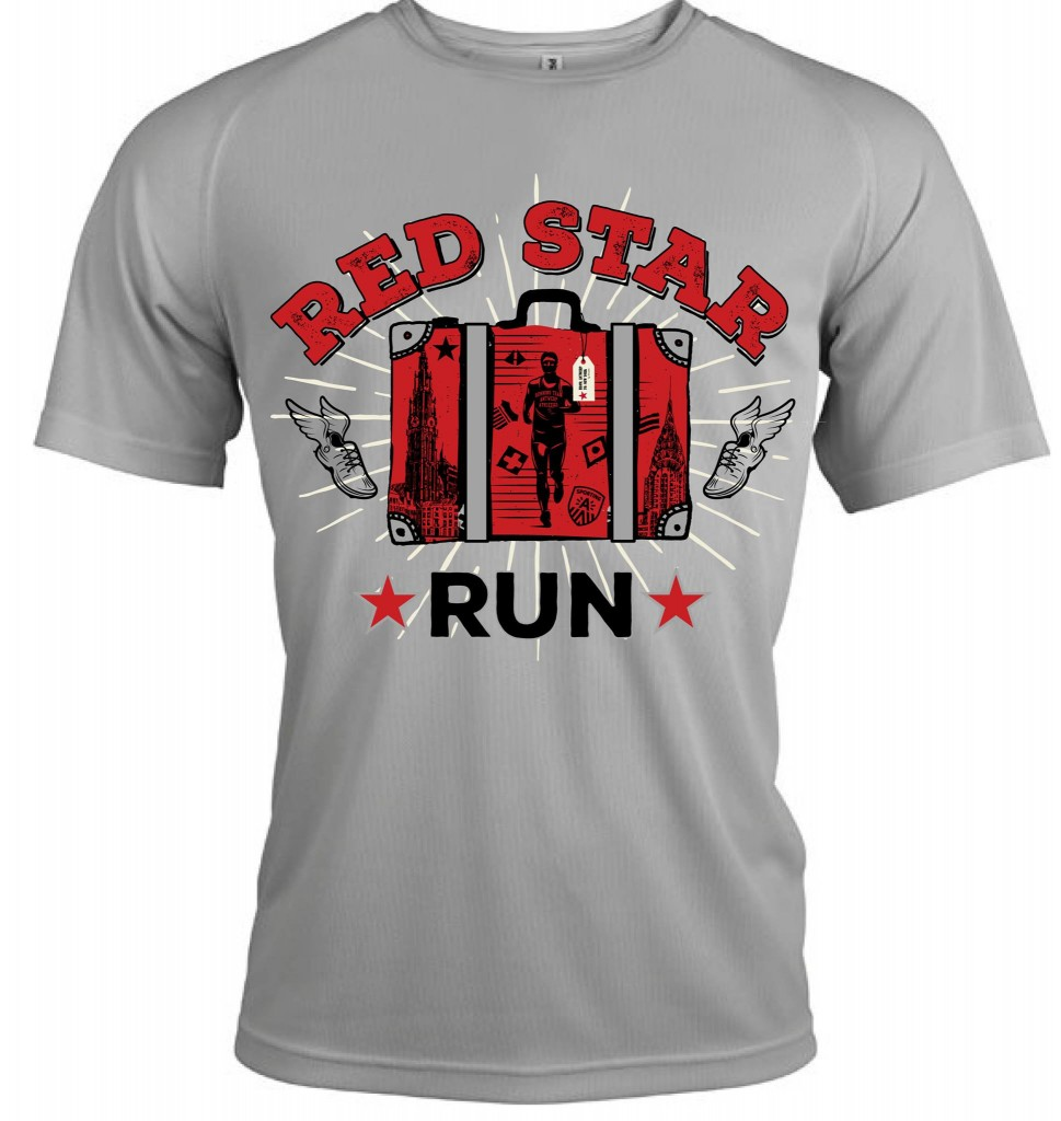 Gratis loopshirt Red Star Run 2017